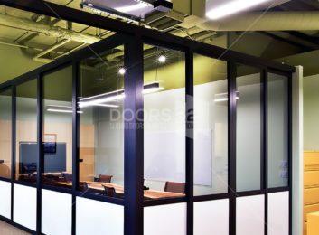 Black Combo Open Air L Shape 4 panels