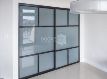 Frosted Glass Duo T Design Wenge Frame
