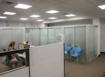 Silver frosted partitions and cubicles 4