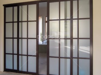 Wenge frosted continental design 4 doors patrially open