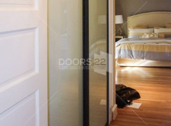 Wenge milky 3 inch frame 2 doors closed