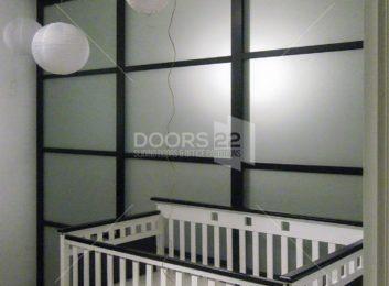 black frosted 3 inch frame quattro design in nursery