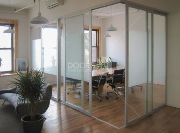 silver combo conference room L shaped divider