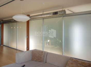 silver frosted loft space 3 doors open on top
