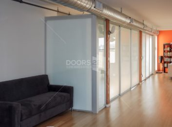 silver frosted loft space side view with panel