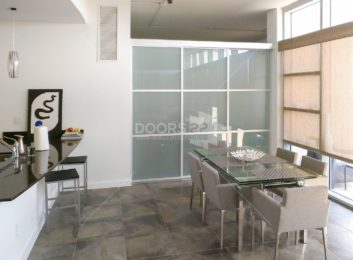 silver frosted trio open air 108 x 96 3 doors