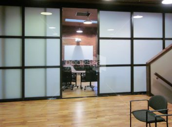 wenge frosted 3 inch frame trio conference room 2