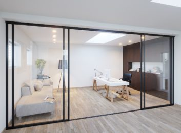 Home Office Glass Walls