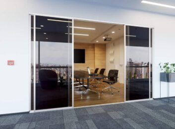 Conference-room-4-doors-silver-smoked-glass-min