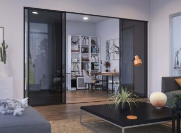 Sliding Glass Office Partition