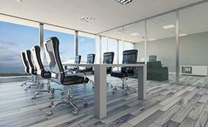 Office-Partition-silver-frame-clear-glass-conference-room-min