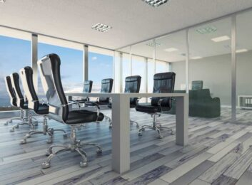 Office-Partition--silver-frame-clear-glass-conference-room-min