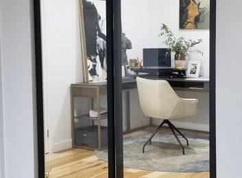 home office glass sliding doors