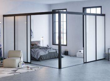 L-Shape-Glass-Room-Divider-Milky