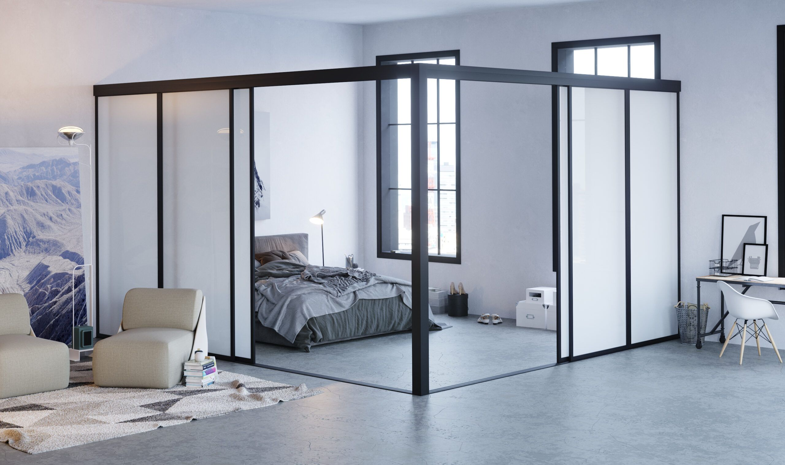 Glass Room Dividers Interior Sliding Doors Partitions Doors22