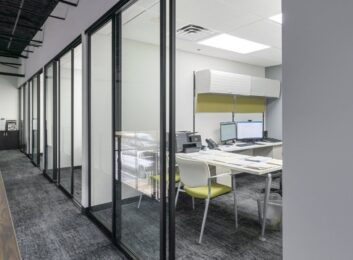 custom glass offices